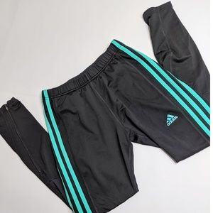 Adidas Green/Black Performance Leggings Size M